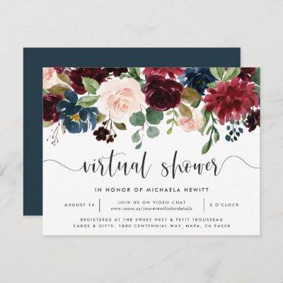 Radiant Bloom Virtual Bridal or Baby Shower Invitation