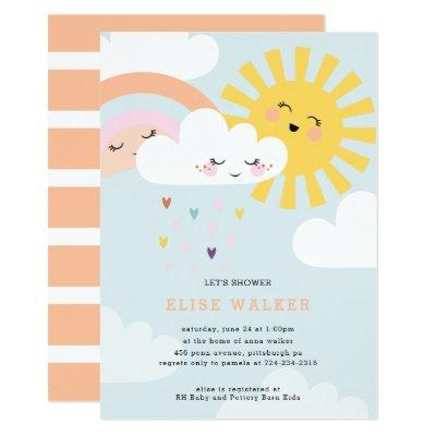 Rainbow Sprinkles Baby Shower Invitation