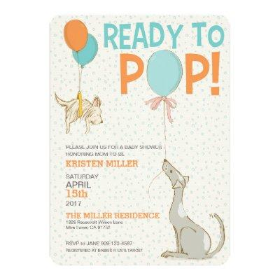 Ready To Pop Baby Shower Invitations