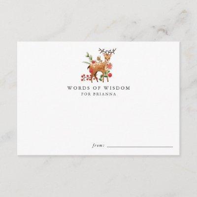 Reindeer | Christmas Baby Shower Advice Cards