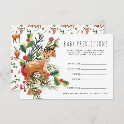 Reindeer | Christmas Baby Shower Guessing Game Invitation