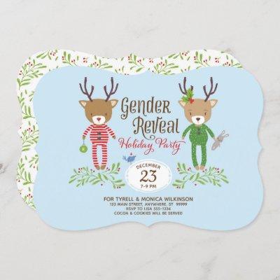 Reindeer Gender Reveal Party Invitation