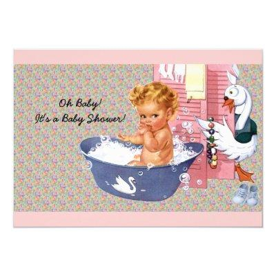 Retro 1940s Baby Shower Invitation