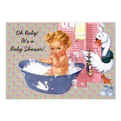Retro 1940s Baby Shower V2 Invitations