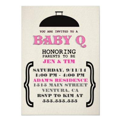 Retro BaBy Q Invitations