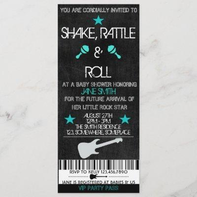 Rock Star Baby Shower Invitation