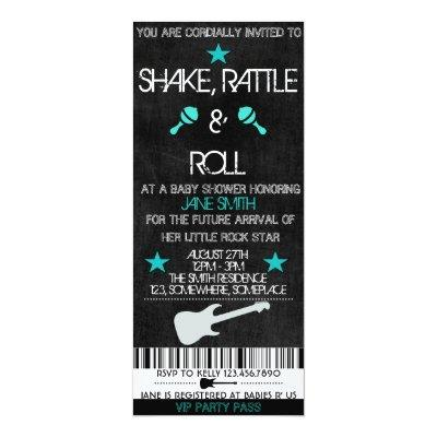 Rock Star Baby Shower Invitations