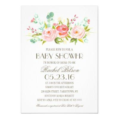 Rose Garden | Baby Shower Invitations
