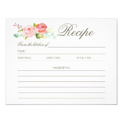 Rose Garden | Recipe Invitations