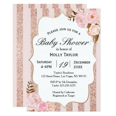 Pink gold bridal shower invites baby shower invitations baby pineapple bridal shower invitations tropical baby rose gold filmwisefo