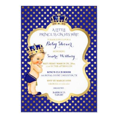 royal prince crown baby shower baby shower invitations | baby, Baby shower invitations