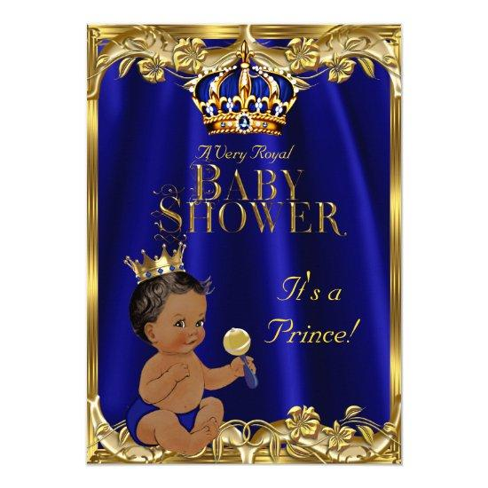 blue gold prince baby shower baby shower invitations  baby shower, Baby shower invitations