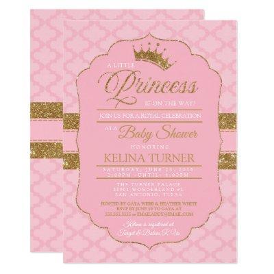 Royal Little Princess Baby Shower Invitations