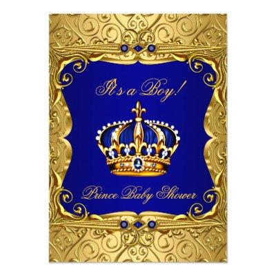 baby shower royal blue gold baby shower invitations  baby shower, Baby shower invitations