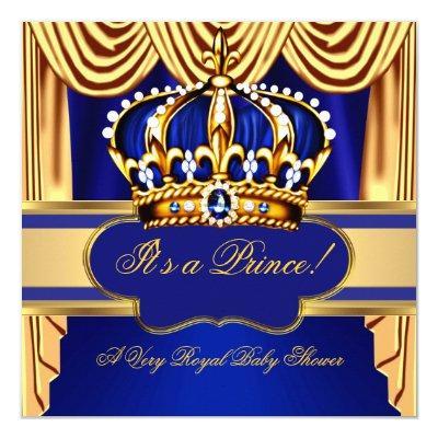 royal prince blue gold silk drapes invitations