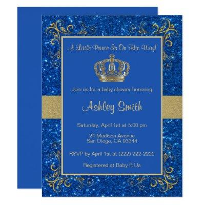 Royal Prince Baby Shower Invitations - Personalized