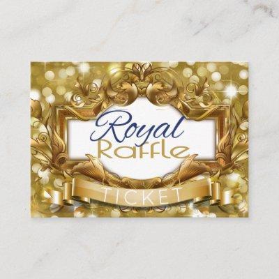 Royal Prince Gold Glitter Diaper Raffle Tickets Enclosure Card
