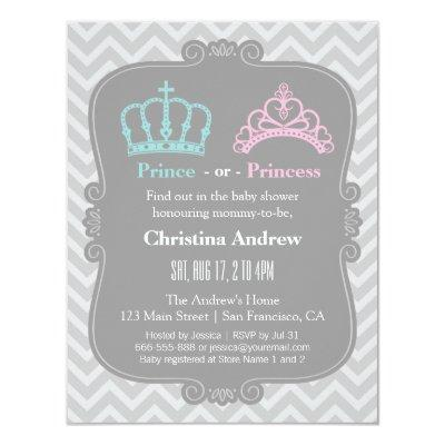 Royal Prince or Princess Gender Reveal Baby Shower Invitation