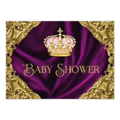 Royal Princess Baby Shower Invitation