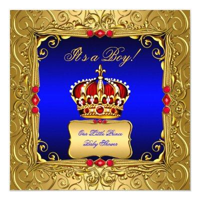 royal prince crown baby shower baby shower invitations  baby, Baby shower invitations