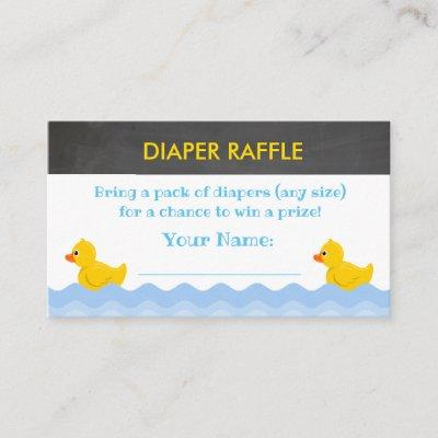 Rubber Duck Baby Shower Diaper Raffle Tickets Enclosure Card