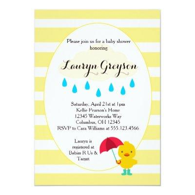 Rubber Ducky Duck Yellow Invitations
