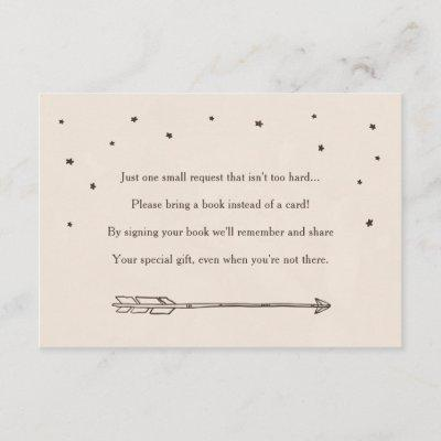 Rustic Adventure Themed Book Request Insert Cards