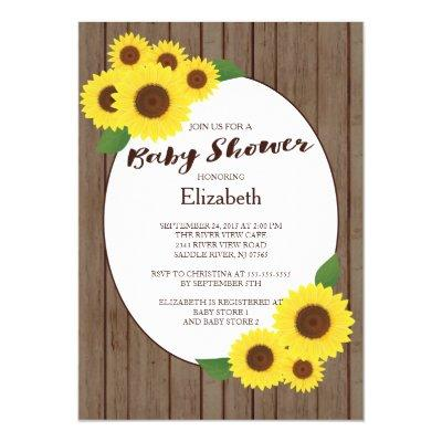 sunflower baby shower baby shower invitations | baby shower, Baby shower invitations