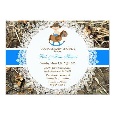 Blue Camouflage Baby Shower Invites Baby Shower Invitations Baby