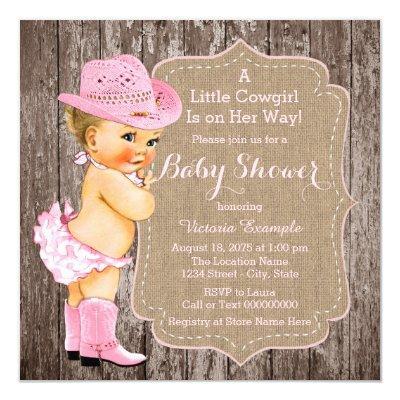 Rustic Cowgirl Invitations