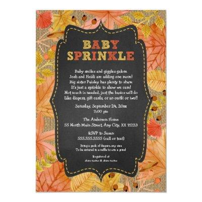 Rustic Fall Leaves Baby Sprinkle /