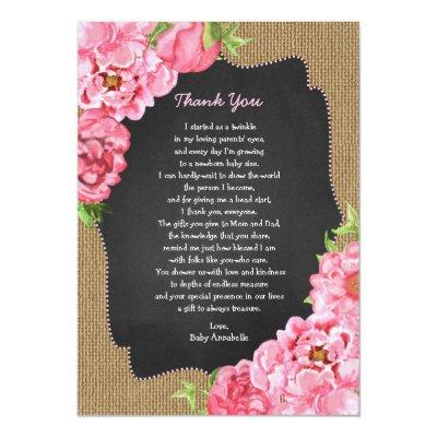 baby girl thank you note baby shower invitations baby shower