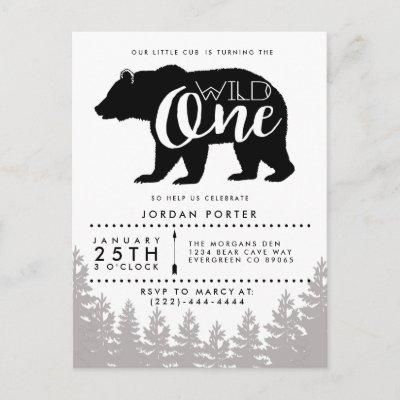 Rustic Mama Bear | Baby Shower Invitation Postcard