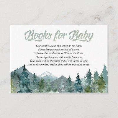 Rustic mountains forest book instead of card