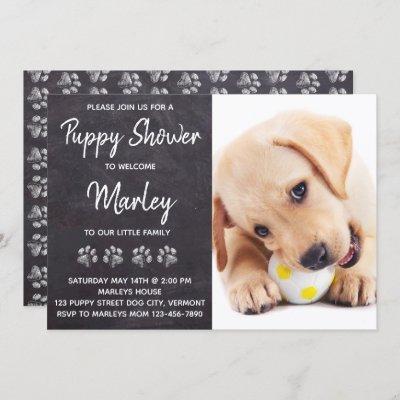 Rustic New Pet Dog Puppy Shower Invitation