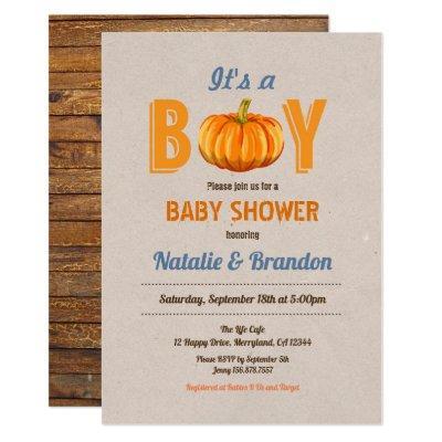 Rustic pumpkin it's a boy