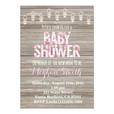 Rustic Shabby Chic Invitations
