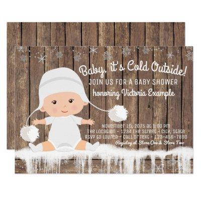 Rustic Snowflake Baby its Cold Outside