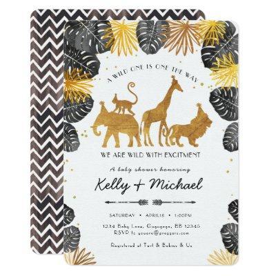 Safari Animals Baby Shower Invitations