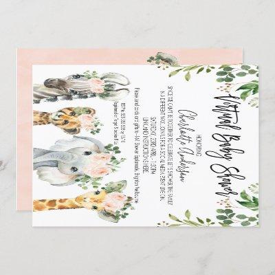 Safari Animals Virtual Baby Shower Invitation