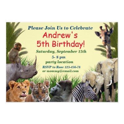Safari birthday invitation,jungle invitation