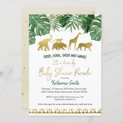 Safari Drive by Baby Shower Parade Invitation