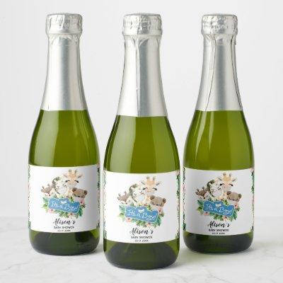 Safari Friends | Baby Shower Mini Champagne Label