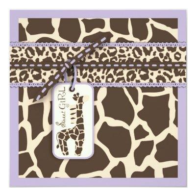 Safari Girl LAV Invitation Square B