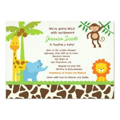 Safari Jungle Zoo Invitations