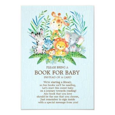 Safari JungleBoysBaby Shower Book for Baby Invitations