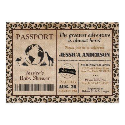 Passport baby shower baby shower invitations baby shower invitations passport baby shower neutral travel theme custom invitations safari passport filmwisefo