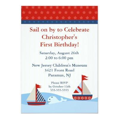 Sail on by & Celebrate Birthday Invitations