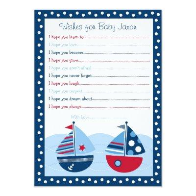 Sailboat Wishes for Baby Invitations
