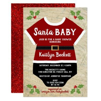 Santa Baby | Christmas Baby Shower Invitation